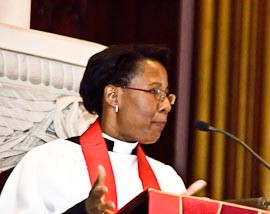 Photo: The Rev. Jennifer Baskerville-Burrows preaching