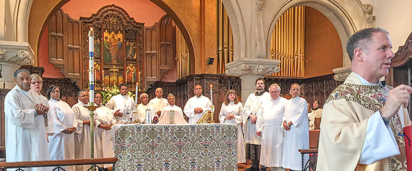 Acolytes and Eucharistic Ministers on Easter Day, 2015.