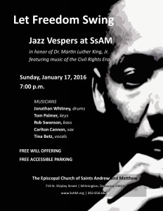 Jazz Vespers - Jan 2016 FLIER