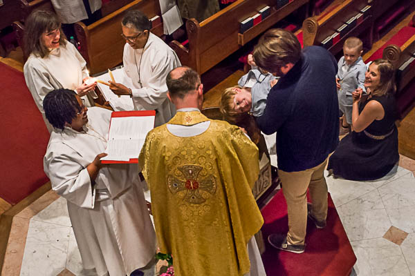 Baptism, Easter Vigil, 2017 at the Episcopal Church of Saints Andrew and Matthew, SsAM, in Wilmington, Delaware