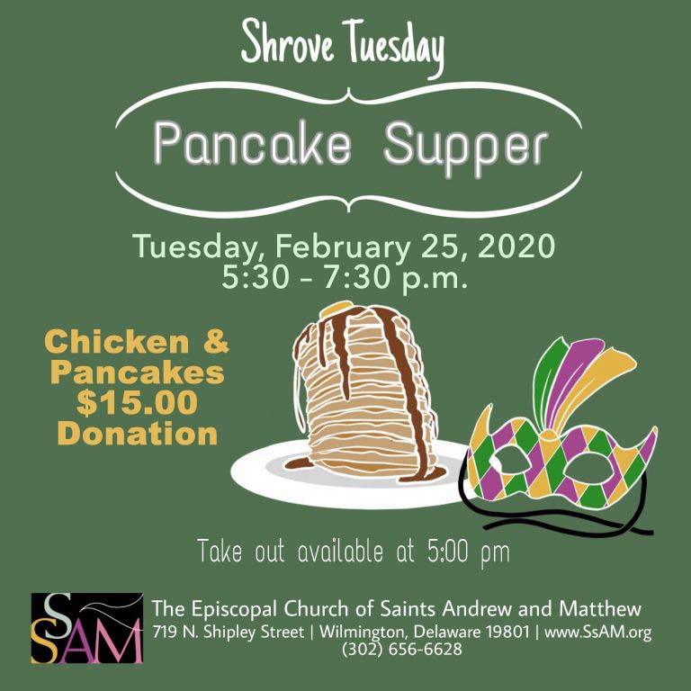 YYF Shrove Tuesday Supper, Feb. 25, 2020 in Wilmington, Delaware