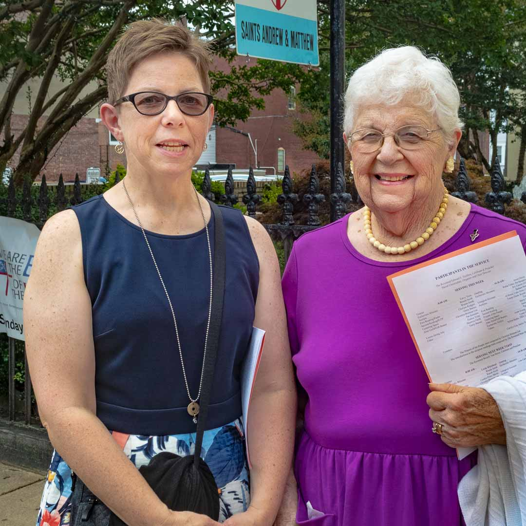 Katy and Lu Soukup, Episcopal Church of Saints Andrew and Matthew (SsAM), downtown Wilmington, Delaware, July, 2019