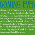 Upcoming Events at the Episcopal Church of Saints Andrew & Matthew, Downtown Wilmington, Delaware