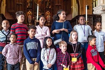 Children's Choir during worship at SsAM