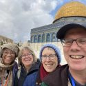 Audrey, Martha, Emily, and David in Jerusalem, Church of the Holy Sepulcher