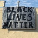 Black Lives Matter finished banner at Episcopal Church of Saints Andrew and Matthew, Wilmington, Delaware
