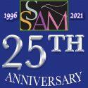 25th Anniversary Logo of SsAM, the Episcopal Church of Saints Andrew & Matthew, Wilmington, Delaware