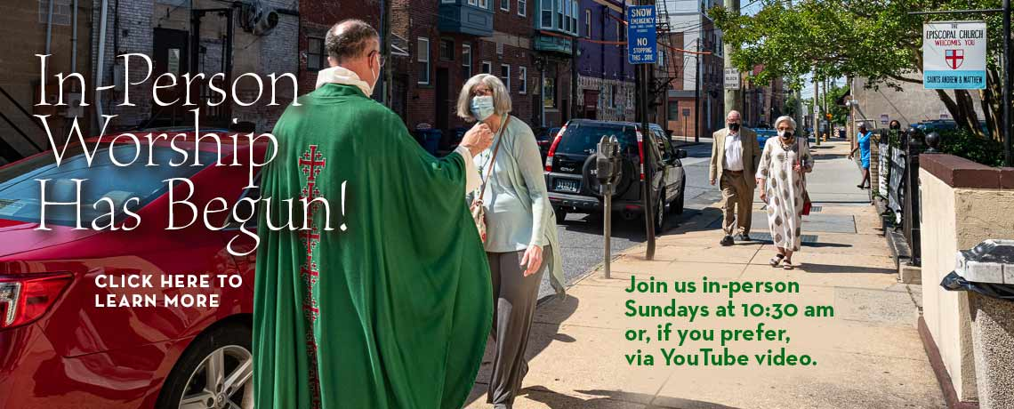 In-Person Sunday Services Have Begun