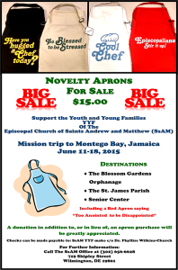 Apron and flyer picture