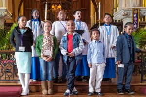 Children's Chapel singers in performance on November 3, 2019 at the Episcopal Church of Saints Andrew and Matthew, Wilmington, Delaware 2019