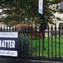 Black Lives Matter banner at the Episcopal Church of Saints Andrew and Matthew, Wilmington, Delaware