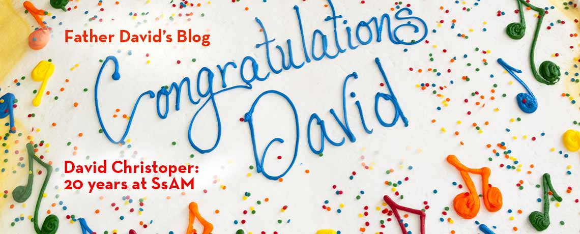 Congratulations, David Christopher, 20 years at the Episcopal Church of Saints David and Matthew, Wilmington, Delaware