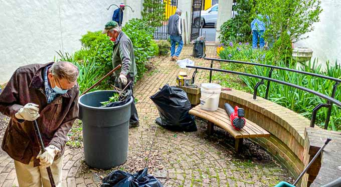 Garden of Praise, May, 2021 with cleanup by the Men's Fellowship Ministry