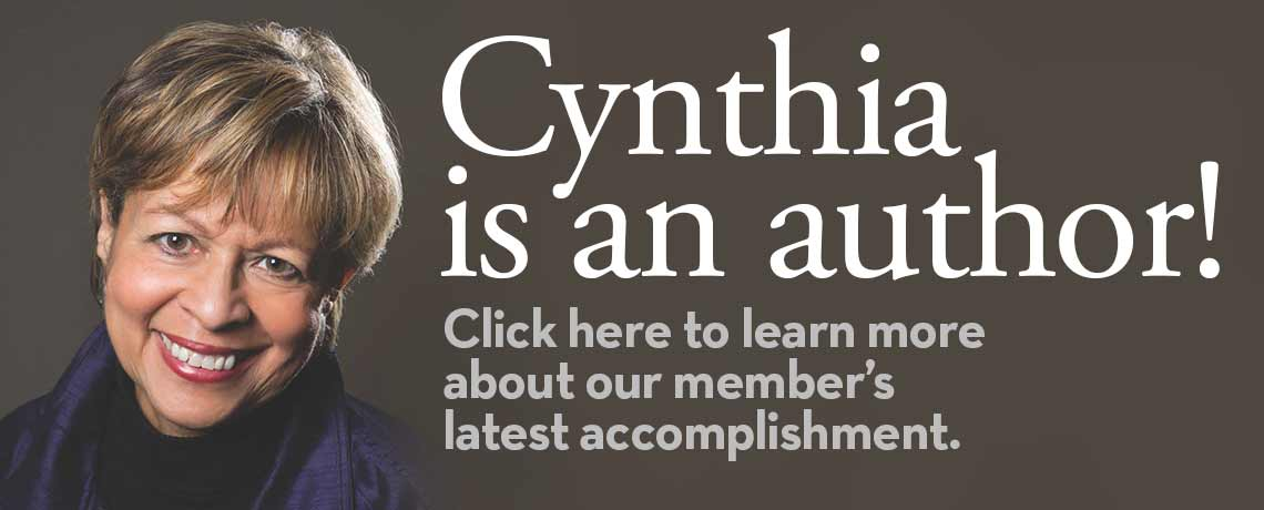 Cynthia Is An Author!
