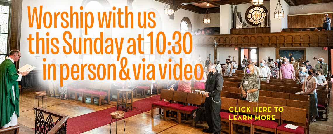 Worship With Us In Person and Via Video