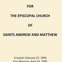 By-Laws ByLaws of SsAM, the Episcopal Church of Saints Andrew and Matthew, Wilmington, Delaware