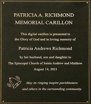 Carillon Plaque